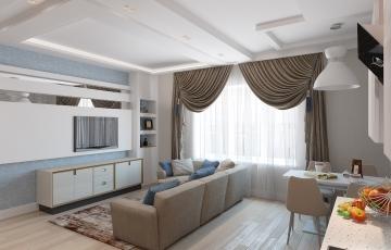 Дизайн квартиры в ЖК Даудель Лакшери