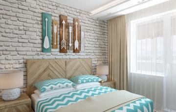 Дизайн спальни лофт