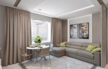 Интерьер квартиры в современном стиле для молодой девушки