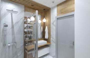 Проект ванной комнаты ул. Эрвье