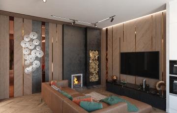 Дизайн интерьера частного дома Дударево