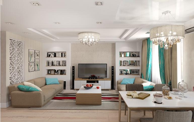 Интерьер современной квартиры в монохромном стиле фото