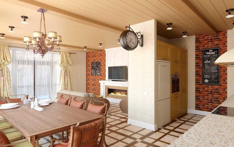 Отдельная кухня гостиная в стиле прованс фото