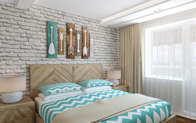 Интерьер спальни для в стиле лофт