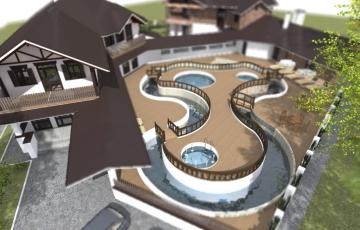 Проект - гостиничный комплекс с бассейнами