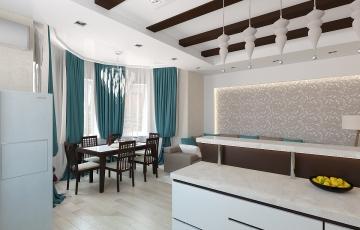 Дизайн проект апартаментов Озерные Аркады