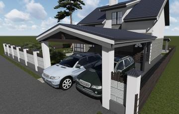Проект двухэтажного дом с мансардной кровлей
