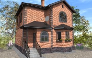 Проект двухэтажного жилого дом