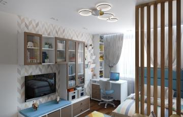 Интерьер комнаты для молодого человека (Казачьи луга)